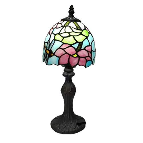 Tiffany Stil Tischlampe, Retro Glasmalerei Designer Schreibtisch Licht Augenschutz Schlafzimmer Nachttischlampe, Kinderzimmer Nachtlicht, Geschenk Licht, E27-15CM