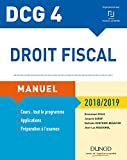 DCG 4 - Droit fiscal 2018/2019 - Manuel (2018-2019)