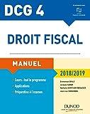 DCG 4 - Droit fiscal 2018/2019 - Manuel