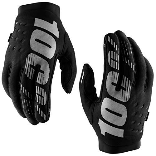 100% Prozent Brisker Handschuhe Soft Shell MTB DH MX Motocross Enduro Offroad Quad, HU-GLO-0007, Farbe Schwarz, Größe XL