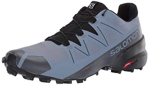 Salomon Men's Speedcross 5 Trail Running Shoes, FLINT STONE/Black/India Ink, 7.5