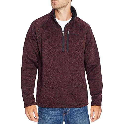 Eddie Bauer Men's Quarter-Zip Fleece Sweater - Wine Tasting XX-Large