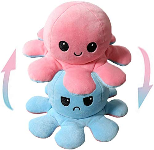 Daanu Double-Sided Flip Octopus Doll Animal Stuffed Cute Soft Toys Gifts for Kids