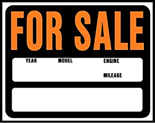 Hy-Ko Products SP-112 Auto/Boat For Sale Jumbo Plastic Sign 14.5