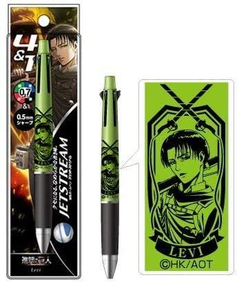 リヴァイ ジェットストリーム4&1 進撃の巨人コラボ グッズ グリーン 緑 ヒサゴ 4色ボールペンシャープペン