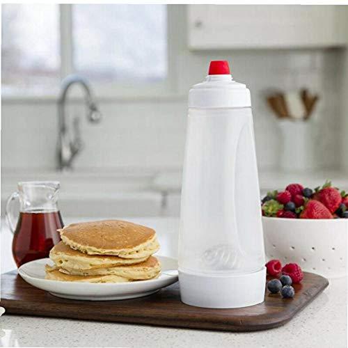 Case Cover Batter Mixer Flasche Hand Schütteln Stir Flasche Kuchen Pancake Crepe-teig-zufuhr-Hand Batter Spender Küchenhelfer 1pc