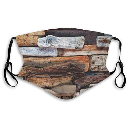 Mode Comfortabele Winddichte Houten Thema Drijfhout En Knotty Planken In De Vintage Stijl Ontwerp Digitale Beeld Gedrukt Gezichtsdecoraties