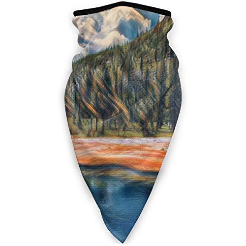 BJAMAJ Yellowstone Masque de plein air pour le visage de la bouche coupe-vent Masque de sport Masque de ski Bouclier Écharpe Bandana Hommes Femme