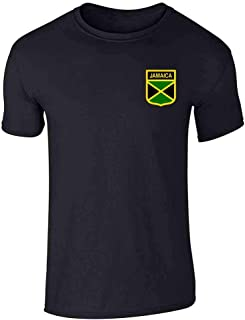 Jamaica Soccer Retro National Team Costume Graphic Tee T-Shirt for Men