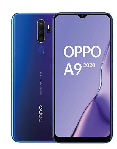 OPPO A9 2020 - Smartphone de 6.5'' HD+, 4G Dual SIM, 8 Core, 128 GB, 4 GB RAM, 48 + 8 + 2 + 2 MP, 16 MP, Púrpura Espacial [Versión ES/PT]