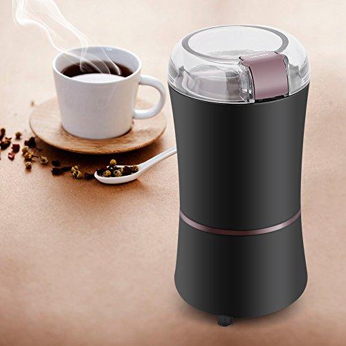 Kaffeemühle, Aramox 400W Leistungsstarke elektrische Kaffeebohnen Grinder für Gewürznüsse mit Edelstahlklingen