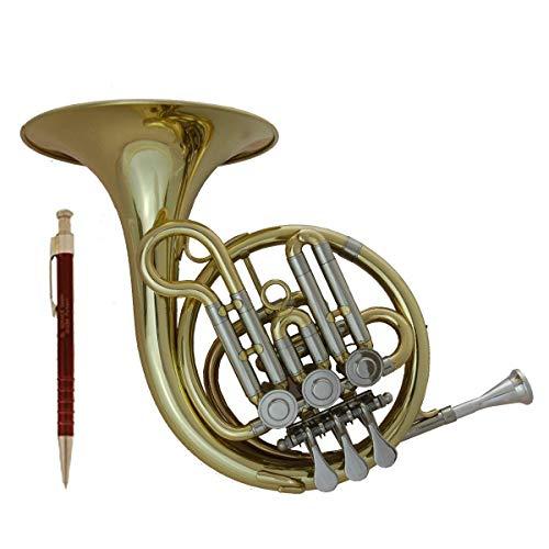 Tuyama® TMW-273 Taschenwaldhorn in B mit 3 Ventilen Waldhorn Taschenhorn Pocket Horn