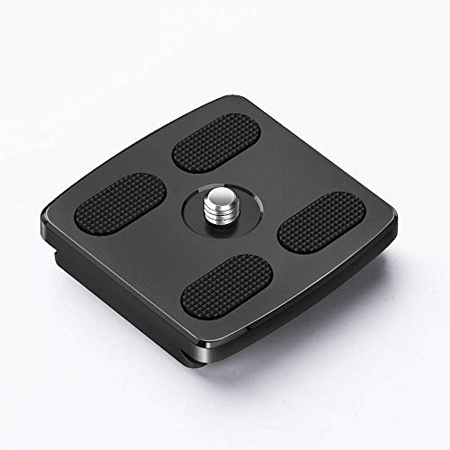 GEEKOTO Camera Tripod Quick Release Plate for Tripod, Aluminum Quick Release Plate with 1/4 Screw