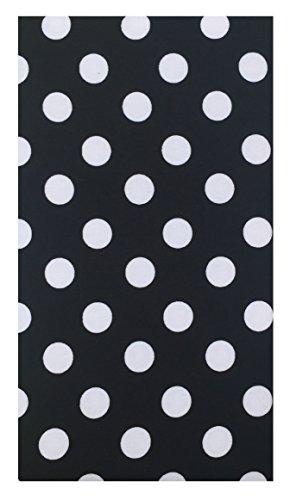 Home & Kitchen Black & White Polka Dot Cotton Guest Check Presenter, Check Book Holder for Restaurant, Checkbook Cover, Check Pad Holder, Waitstaff Organizer, Server Book for Waiters (With Plastic Cover)