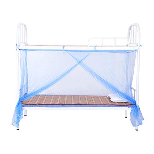 Escuela Estudiantes dormitorio cama Mosquito Red de protección extra denso sola cama mosquitera cortinas 115x 190cm, altura de 150cm azul azul