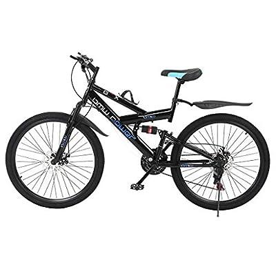 26in Carbon Steel Mountain Bike,Shimanos 21 Speed Bicycle Full Suspension MTB?Bikes for Men