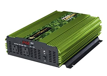 Power Bright 2300 Watt 24V Power Inverter Dual 110V AC Outlets Modified Sine Wave Automotive Back Up Power Supply Perfect for an Emergency Hurricane Storm or Outage - CE Approved