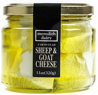 Australian Marinated Sheep & Goat Cheese by Meredith Dairy – 11 Ounces (Pack of 6)