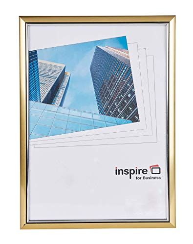 Inspire pour Business A3 Pelle facile Cadre photo/poster – Or