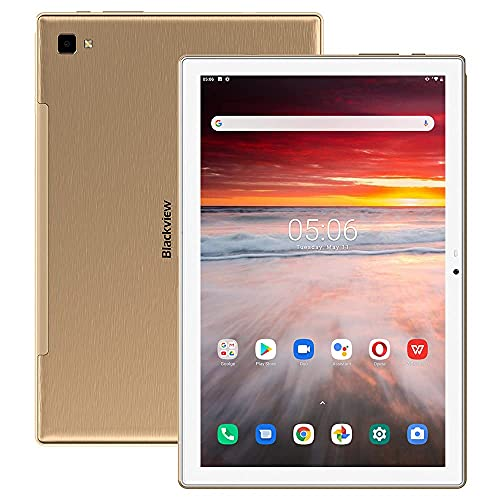 Blackview Tab8 Tablet, 10.1 Inch FHD 6580 mAh Battery Android 10 Tablet PC, 1920 x 1200 FHD IPS Display 4GB RAM with 64GB Memory, 4G LTE Octa-Core Processor Phablet, Dual SIM, Wi-Fi, Face ID, GPS