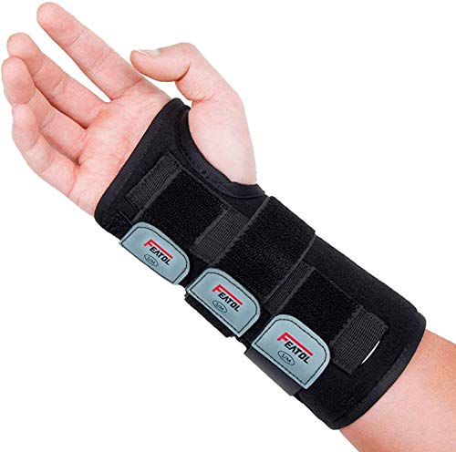 Wrist Brace for Carpal Tunnel, Adjustable Wrist Support Brace with Splints Right Hand, Medium/Large,...