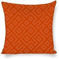 """Cheyan - Fundas de almohada de lino y algodón sin costuras, Azulejos sin costuras, 20""""x20""""(50x50cm)"""