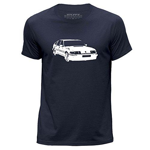 STUFF4 Heren Grote (L) Navy Blauw Ronde hals T-Shirt/Stencil Car Art / SD1 Vitesse