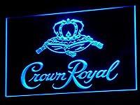 Crown Royal Beer LED看板 ネオンサイン ライト 電飾 広告用標識 W60cm x H40cm ブルー