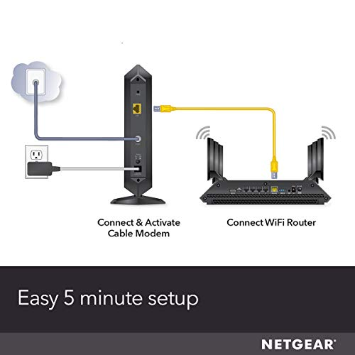 NETGEAR Cable Modem CM1000 - Compatible with All Cable Providers Including Xfinity by Comcast,...