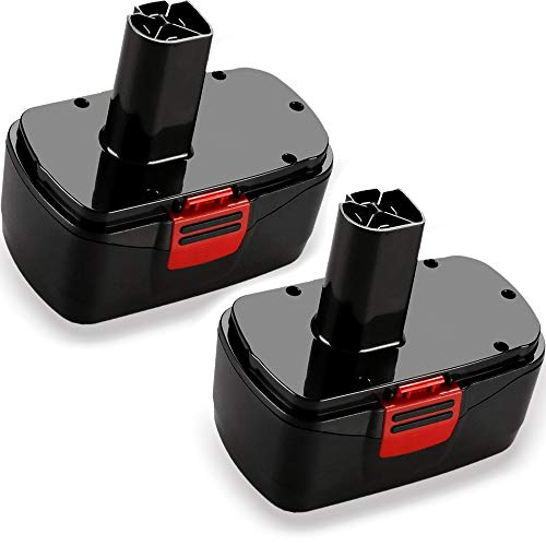 VINIDA 19.2V 3600MAh Ni-MH Replace Battery for 19.2 Volt Craftsman DieHard C3 Battery 130279005 315.115410 315.11485 1323903 120235021 11375 11376 Cordless Drills (2-Packs).