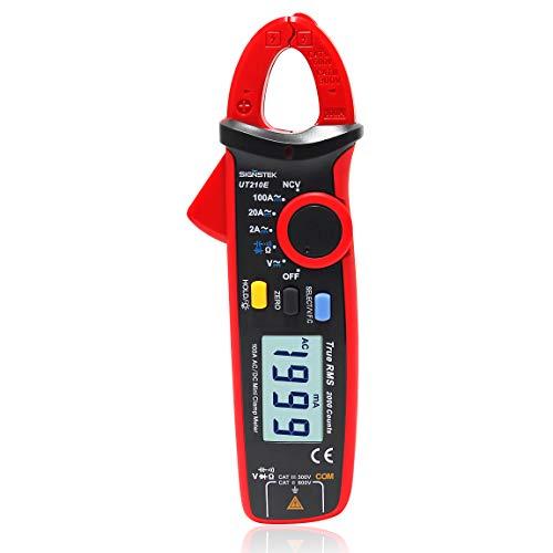 Signstek UT210E Multimetro a pinza portatile, mini, digitale, RMS AC/DC, tester per...