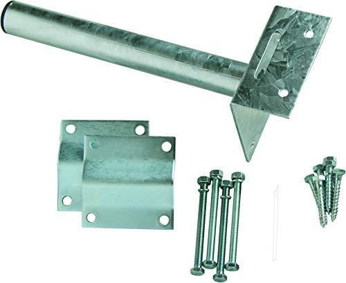 SCHWAIGER -662238- Dachsparren Montageset für SAT Spiegel Satellitenschüssel Befestigung für SAT Antennen Masten SAT Anlagen Dachhalter Masthalter
