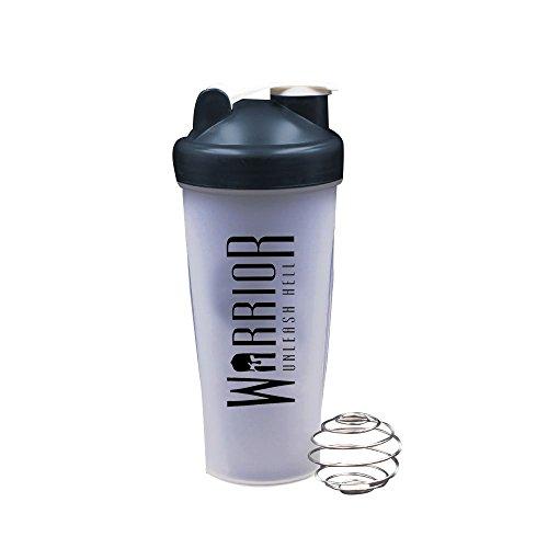 Warrior Supplements 7091 Protein Shaker Bottle 600ml Mixball Shake Blender