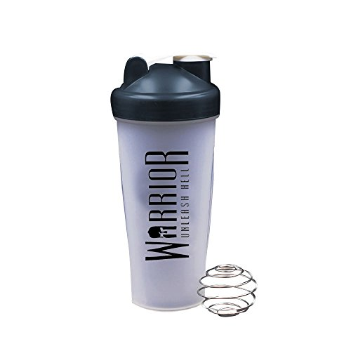 Warrior Supplements 7091 Protein Shaker Bottle 600ml - Mixball Shake Blender