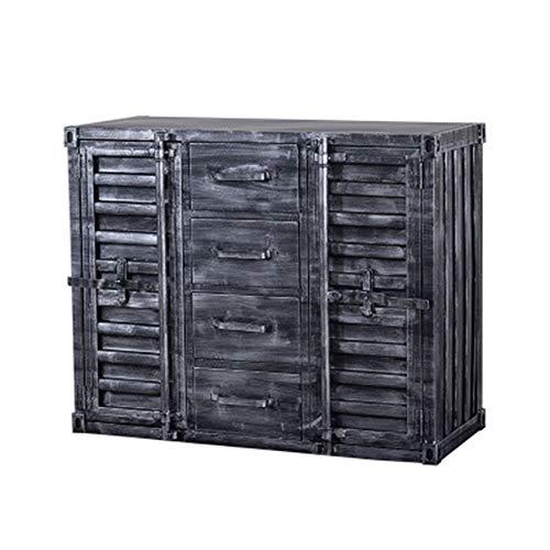 ZoSiP Enfilade Buffet Armoire Cabinet Armoire Desserte Commode Unité Tiroirs avec Portes for Enfilade Chambre Cuisine Salle de Bain casiers Multicouches (Color : Black, Size : 100x40x80cm)