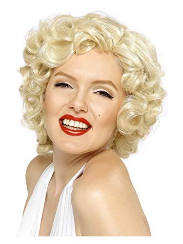 Luxuspiraten - Damen Perücke Marilyn Monroe, Blond, Kurz, perfekt für Karneval und Halloween, Natur