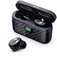SONRU True Wireless Earbuds, Bluetooth 5.0 headphones Stereo Wireless Earphones In-Ear Earbuds 80H Playtime with 3500mAh Charging Case, LED Display, Touch Control, Noise Cancelling