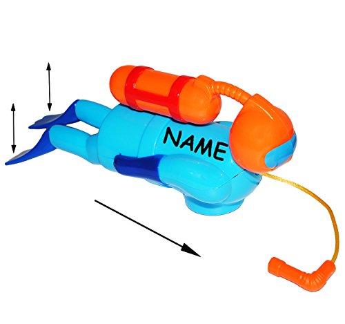 alles-meine.de GmbH Badewannenspielzeug / Schwimmfigur -  Taucher  - schwimmt selbst im Wasser - incl. Name - zum Aufziehen - für Badewanne / Badespielzeug - Wasserspielzeug Ti..