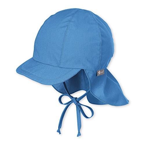 Sterntaler Schirmmütze mit Bindebändern und Nackenschutz, Alter: 18-24 Monate, Größe: 51, Blau (Samtblau)