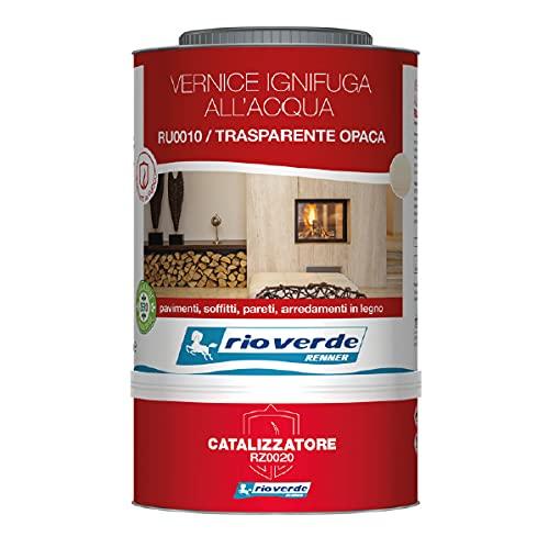 Generico Vernice Ignifuga all'Acqua Classe 1 Trasparente RU0010-RZ0020 da 3 lt Rio Verde