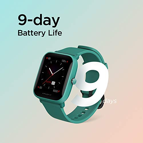 """Amazfit Bip U Pro Smart Watch Sports Watch with Bulit-in Alexa and GPS,Electronic Compass, 60+ Sports Modes, 5 ATM, Fitness Tracker with SpO2, HR,Sleep,Stress Monitor, 1.43"""" Color Touch Screen (Green)"""