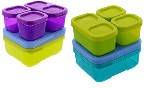 Rubbermaid LunchBlox Sandwich Kit 2pk - BPA-Free Freezer Safe Microwave Safe Plastic Container with Blue Ice - Colors May Vary