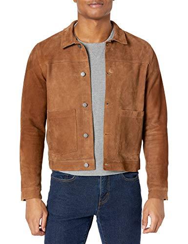 Nudie Jeans Unisex-Erwachsene Dante Nubuck Jacket Lederjacke, Camel, Large