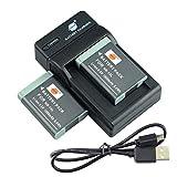 DSTE NB-13L - Juego de baterías y cargador para cámaras Canon G5X, G7X, G9X, G5 X Mark II, G7X Mark II, G9X Mark II, SX720 HS, SX620 HS (2 unidades)