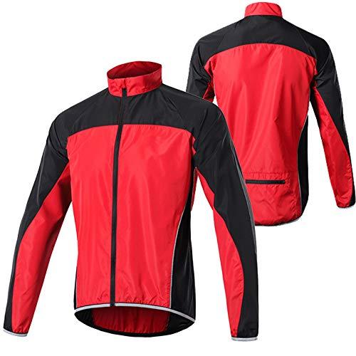 Fahrrad Jacken Herren,Wasserabweisend Atmungsaktiv Fahrradjacke Herren Sommer,Ultraleichte Mountainbike Jacket,Reflektierend Radjacke Herren,Für Radfahren,Joggen & Wandern Laufjacke(Size:XL,Color: