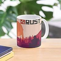 Games Survive Game Survival Meme Rust Logo Fun Best 11 Ounce Ceramic Coffee Mug Gift