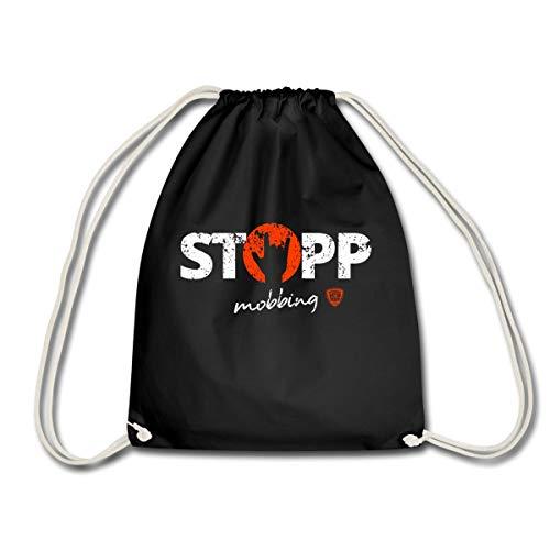 Spreadshirt Camp Stahl ILY Stopp Mobbing Turnbeutel, Schwarz