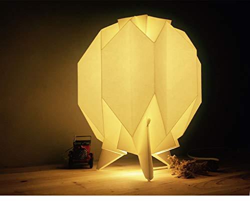 Kreativ Weiß Origami Tischlampe Minimalismus Modern Schlafzimmer Nachttischlampe Kunst Dekoration Nachtlicht Studie Hotel Kinder Wohnzimmer Klein Schreibtischlampe Tischleuchte Max 25W H28*D28CM