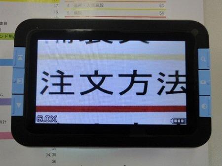 ワイドルーペ WD-100 電子ルーペ 携帯型拡大読書 非課税