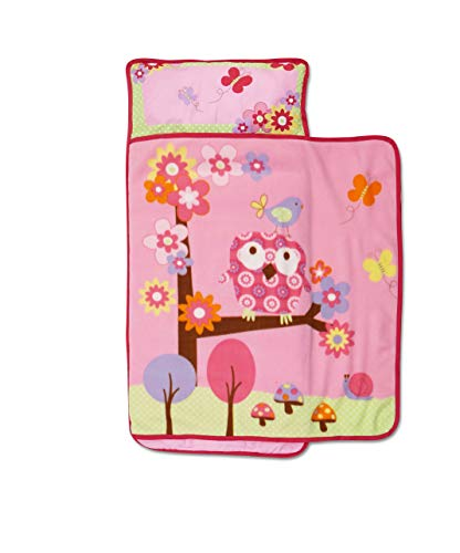 Funhouse Woodland Kids Nap Mat Set – Includes Pillow and...